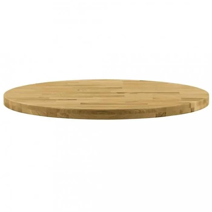 plateaux de table vidaxl dessus de table bois de chene massif rond 44 mm 400 mm