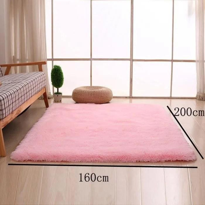rose pale 160 200cm tapis chambre enfant tapis salon du sol maison decoration confortable shaggy moquette velours yoga anti derapage