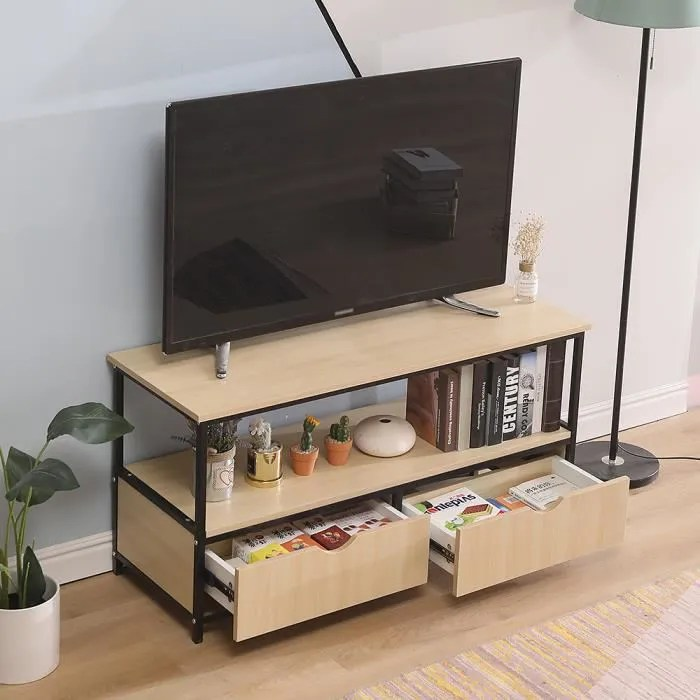 meuble tv table basse design industriel