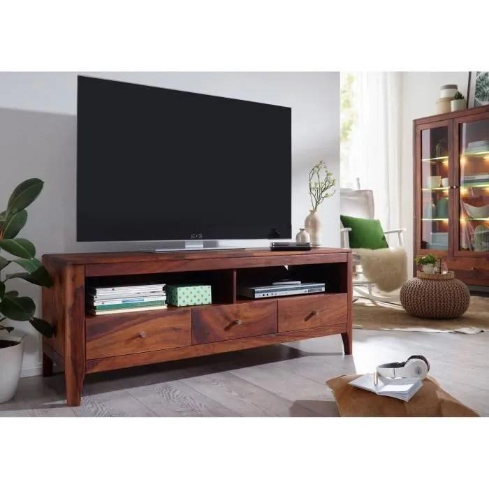 meuble tv bois massif de palissandre huile nois