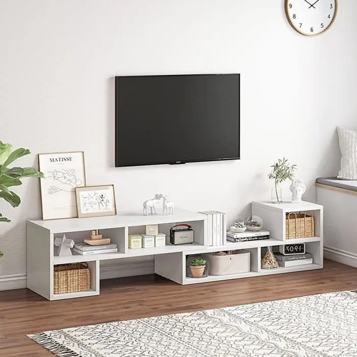 meuble tv long blanc