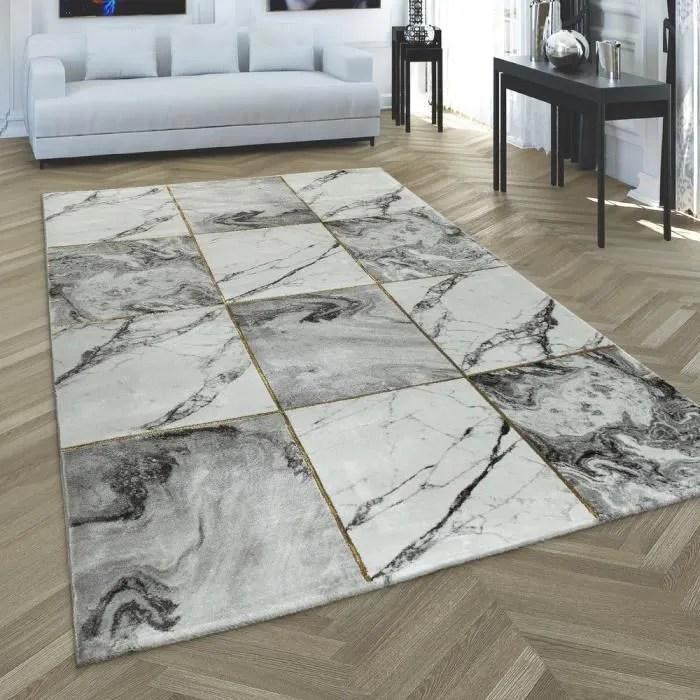 tapis poil ras gris dore doux salon aspect marbre