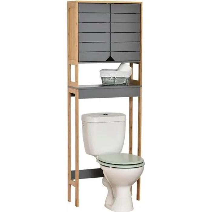 meuble dessus wc 2 portes 1 etagere