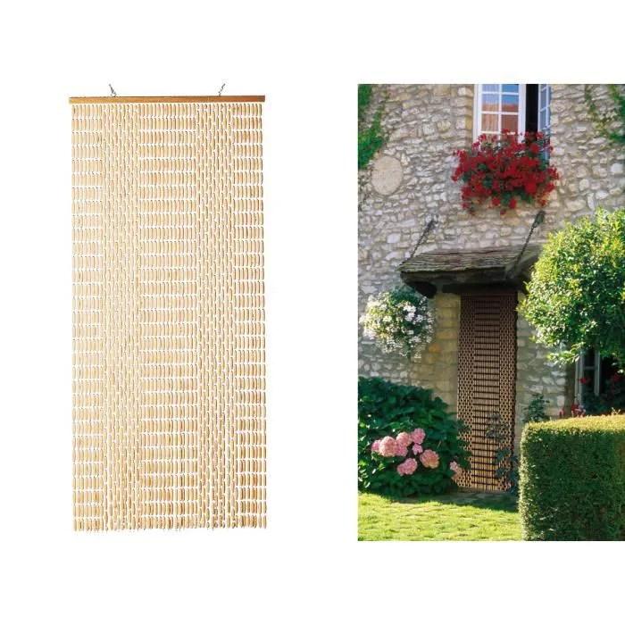 rideau de porte moustiquaire olives de buis nature