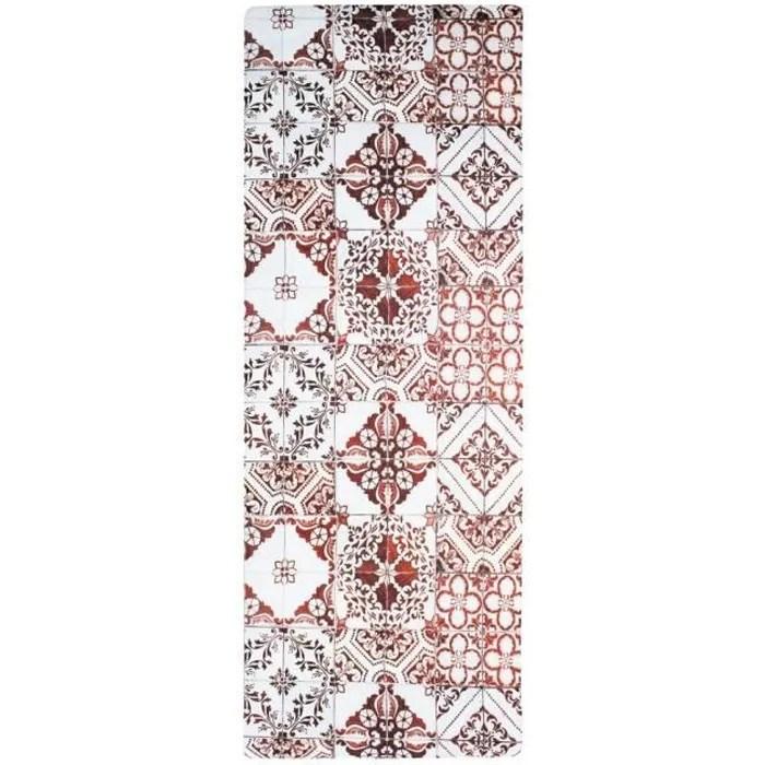 tapis de cuisine azulejos 45 x 120 cm