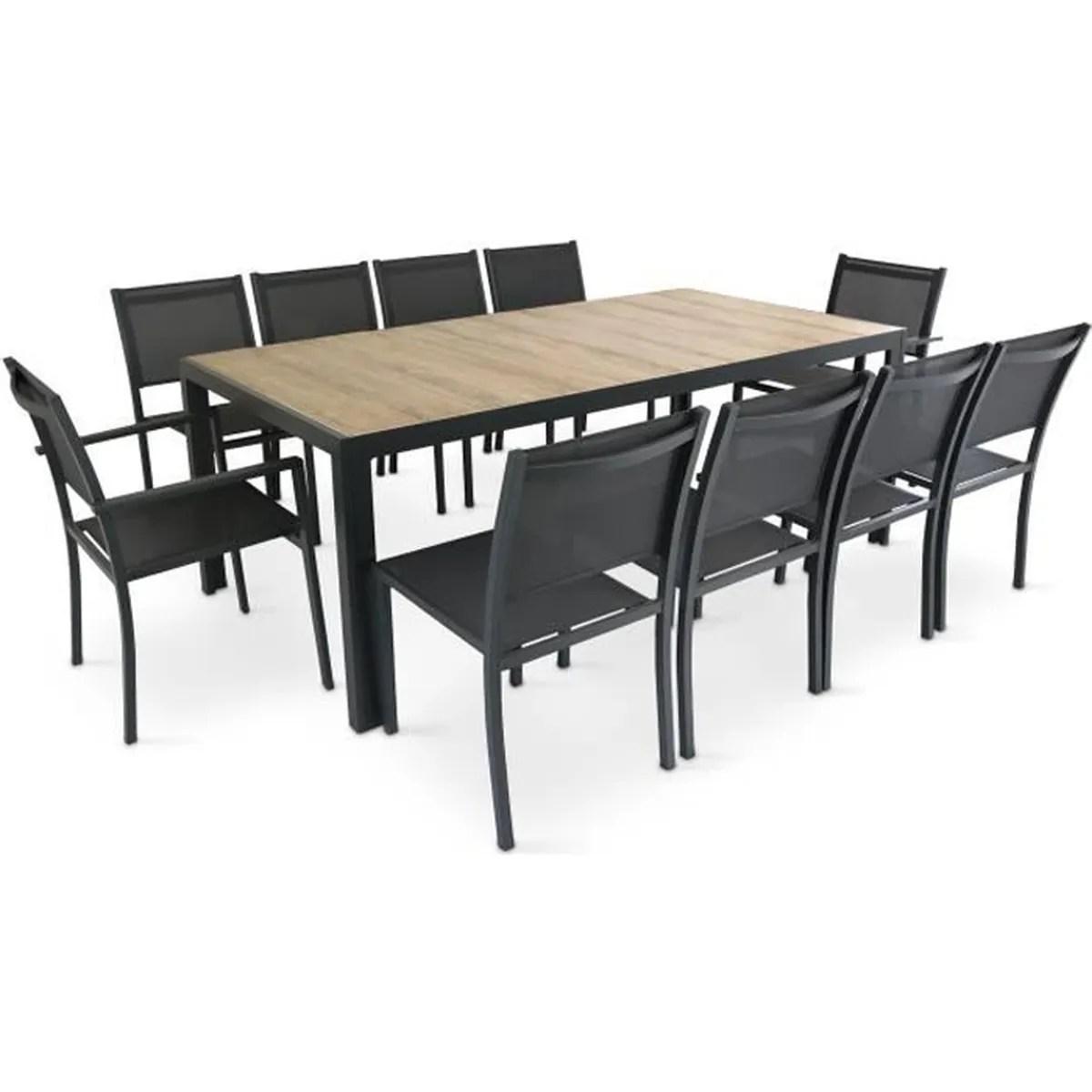 ensemble table et chaise de jardin 2 place