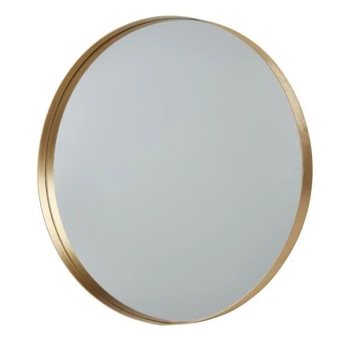 miroir rond dore
