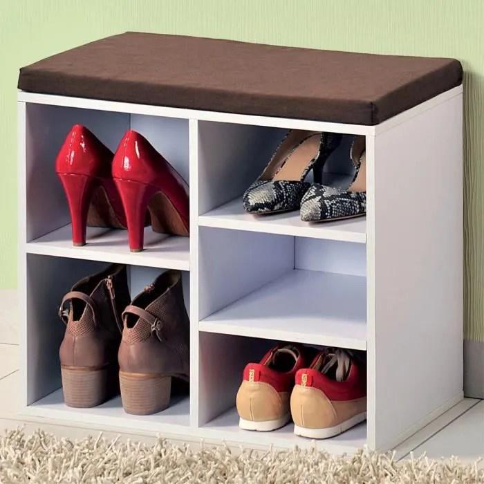 meuble a chaussures avec coussin de siege porte chaussures en bois porte chaussures commode pour les chaussures