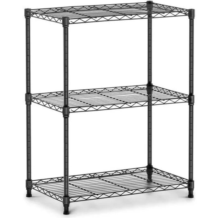 etagere metallique modulable metal sans vis emboitable fil royal catering rcmr 760p19 60 x 35 x 77cm 120 kg 3 tablettes noir