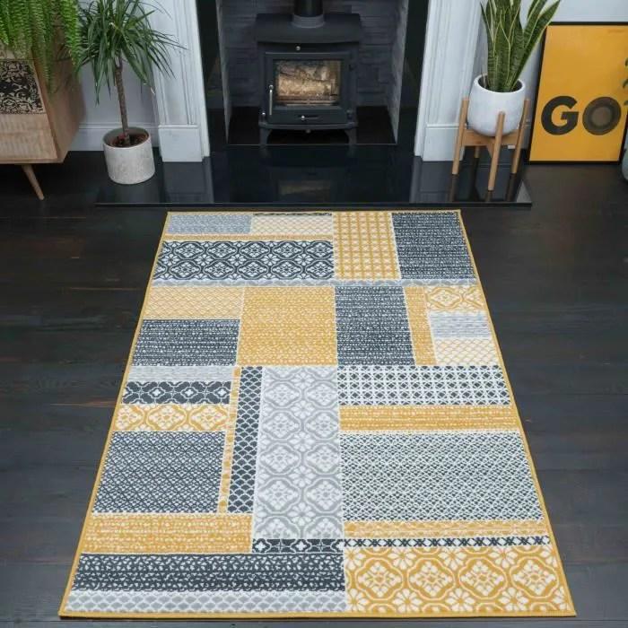 بدلا ينتج شغف tapis gris et jaune