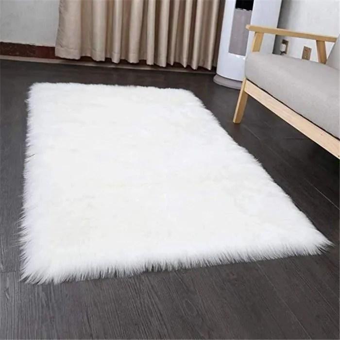 https www cdiscount com maison tapis tapis de salon tapis blanc fourrure fausse tapis s f 11725 auc5291600081154 html