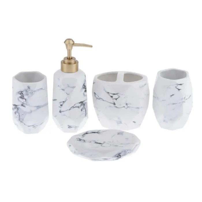 5pcs porte savon support de savon ceramique motif marbre accessoire pour salle de bain cuisine