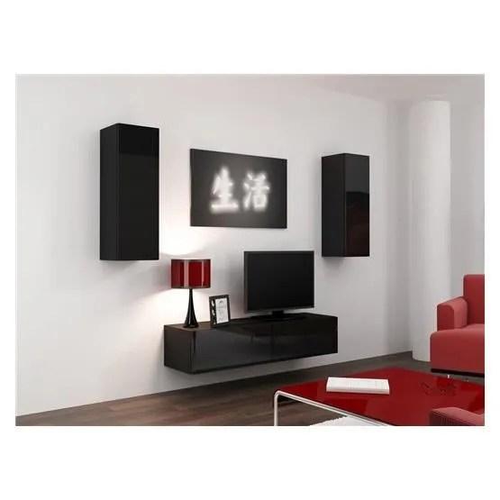 meuble tv design suspendu mano noir