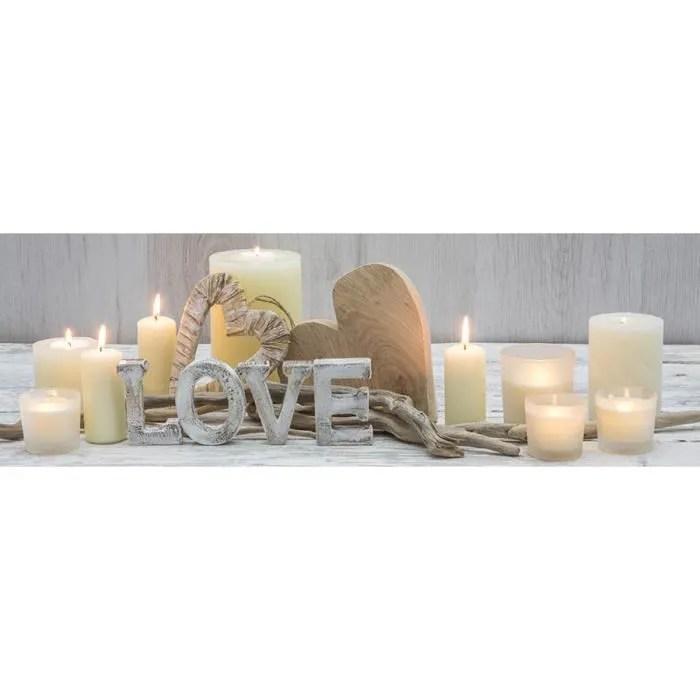 Toile Led Love 30x90 Cdiscount Maison