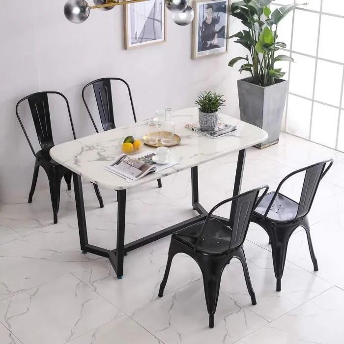 lot de 8 chaises en metal de style industriel chic pour salle a manger cafe restaurant bistro bar