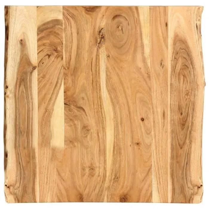 vidaxl dessus de table bois d acacia massif 60x60x