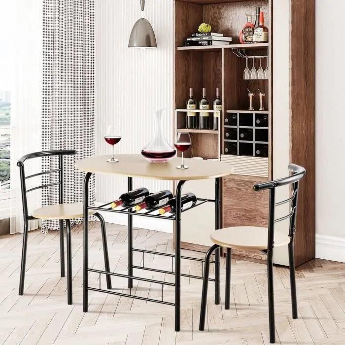 bois dimension de la table 80x53x75 cm