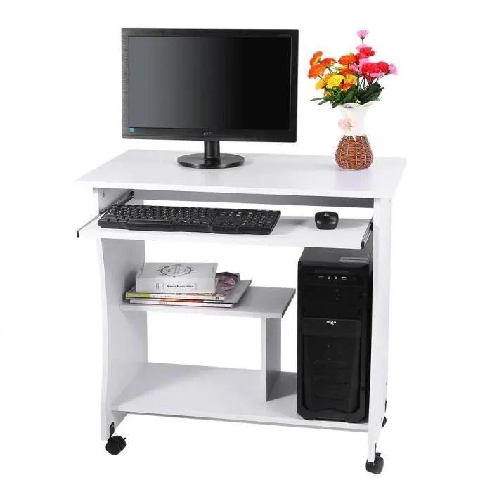travail meuble informatique blanc