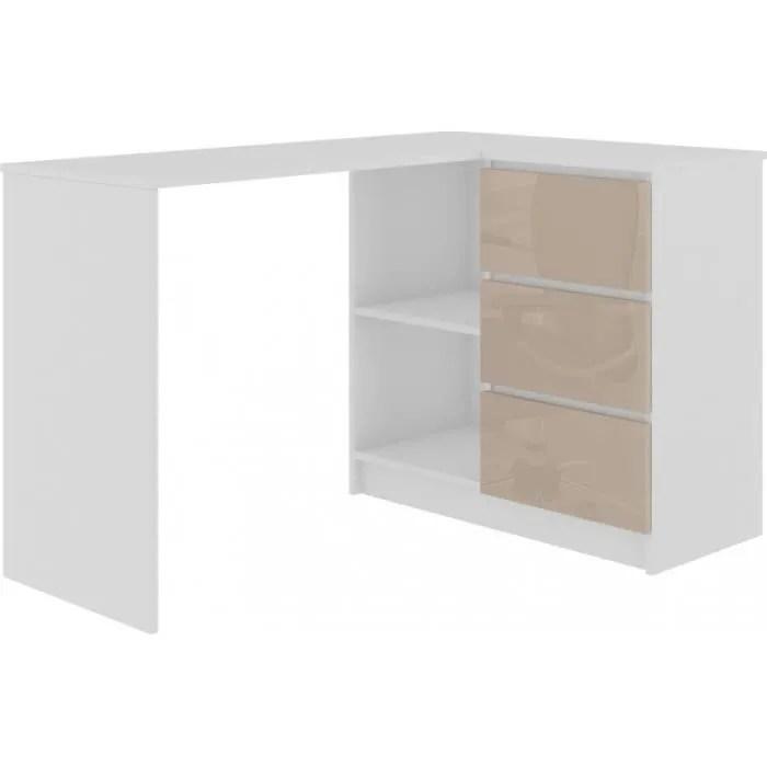 meuble bureau laque blanc
