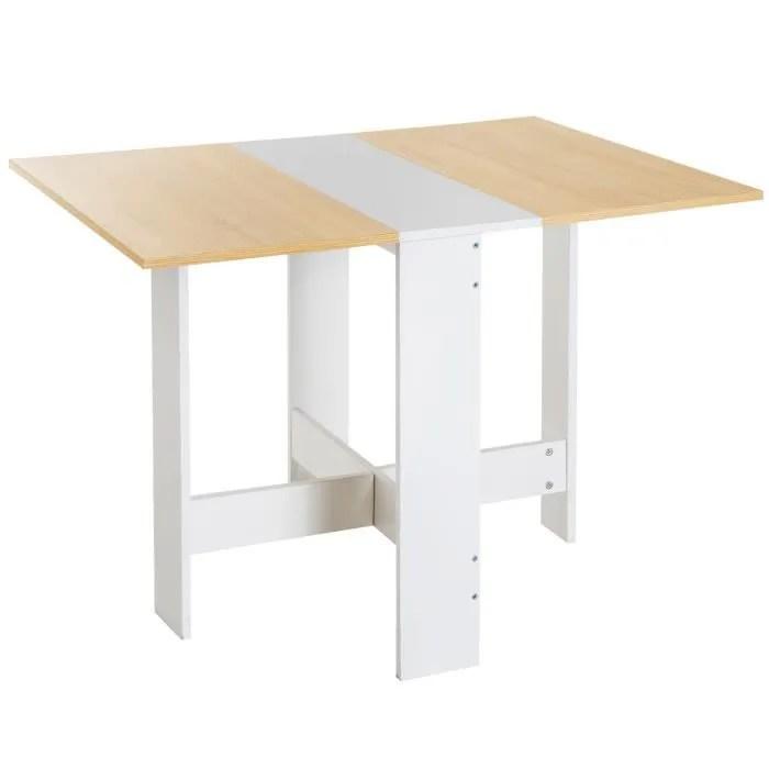 table de cuisine pliable 103l x 76l x 74h cm panne