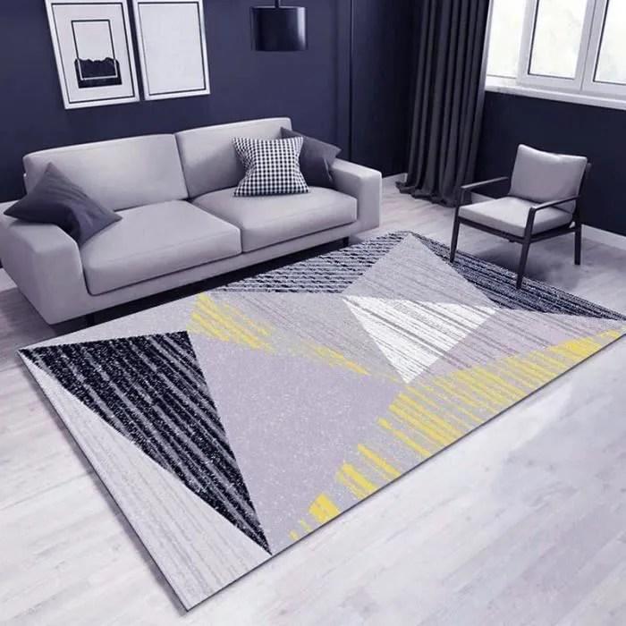 tapis de salon motifs geometriques moderne madrid