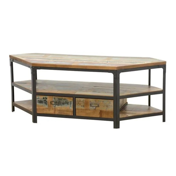 meuble angle industriel