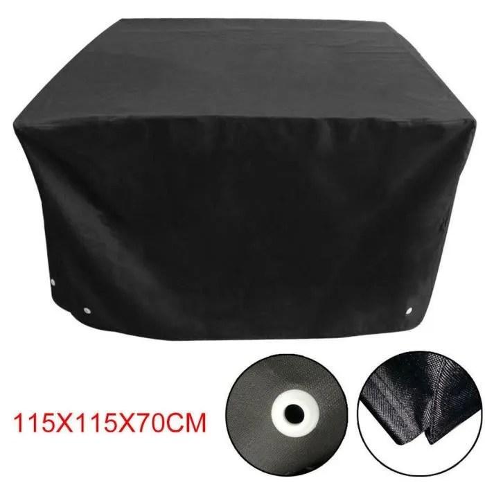 housse pour meubles de jardin protection etanche cube d exterieur 115 115 70cm