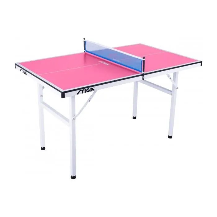 mini table de ping pong stiga pure rose