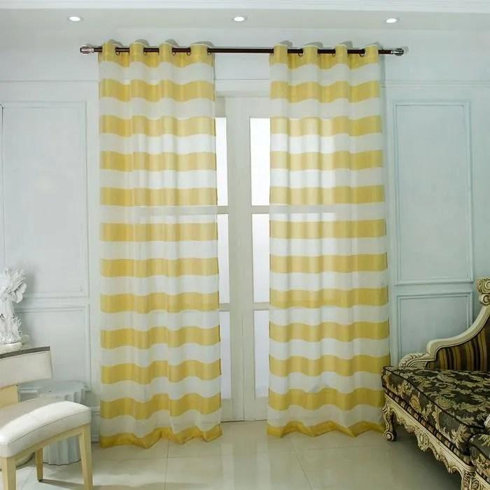 rideaux voilage 107x213 a oeillet rideau voilage