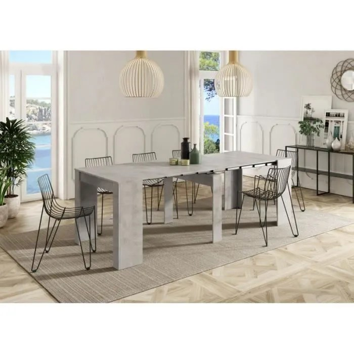 table extensible gris