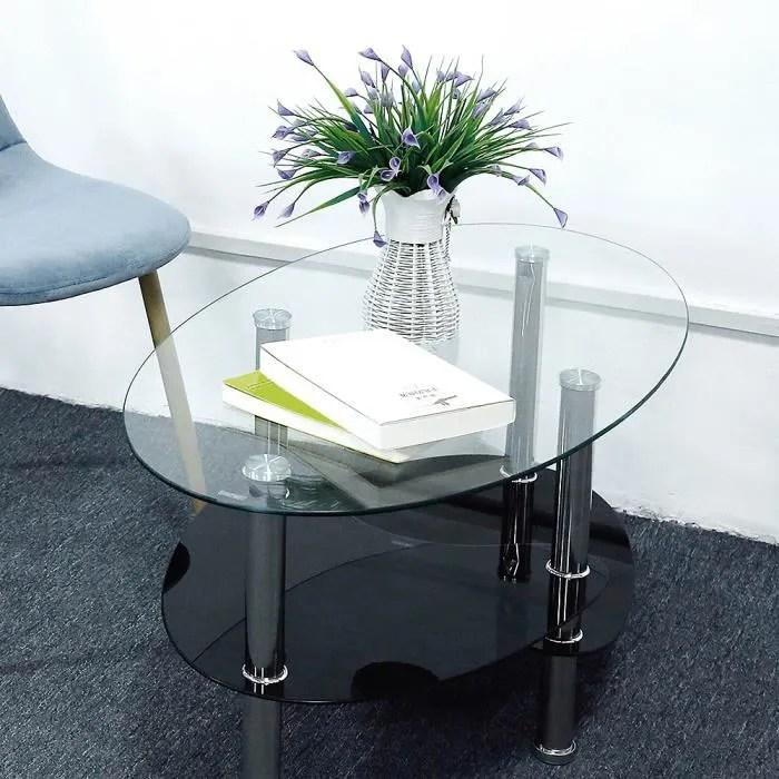 table de salon table basse transparent verre tre