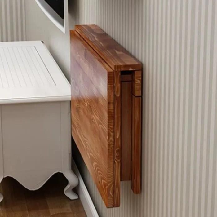 dongy table pliante en bois massif