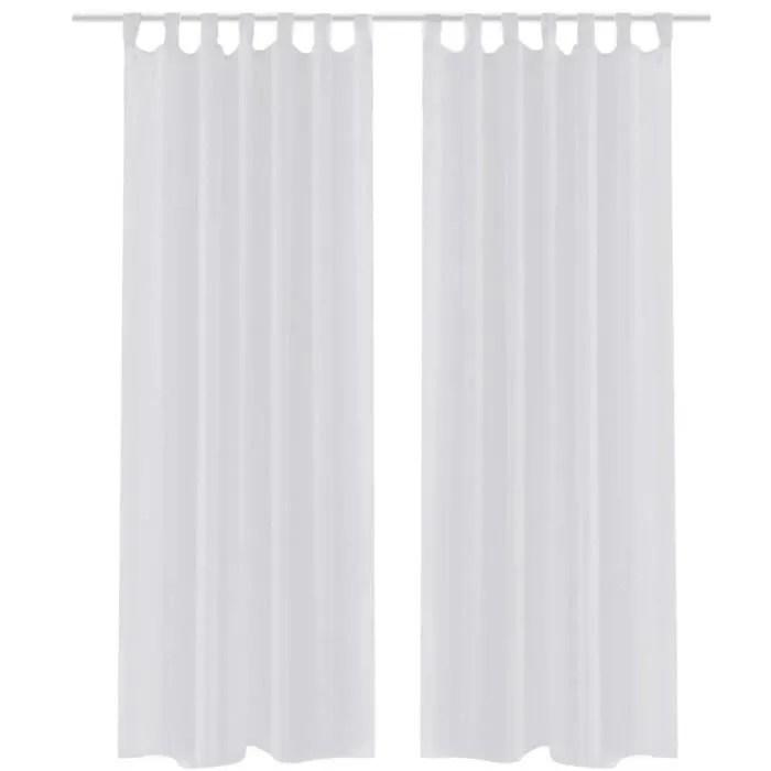 rideau transparent voilage de fenetre blanc 140 x