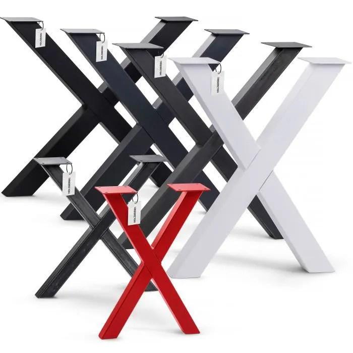 holzbrink pied de table x profil 60x60mm dimensi