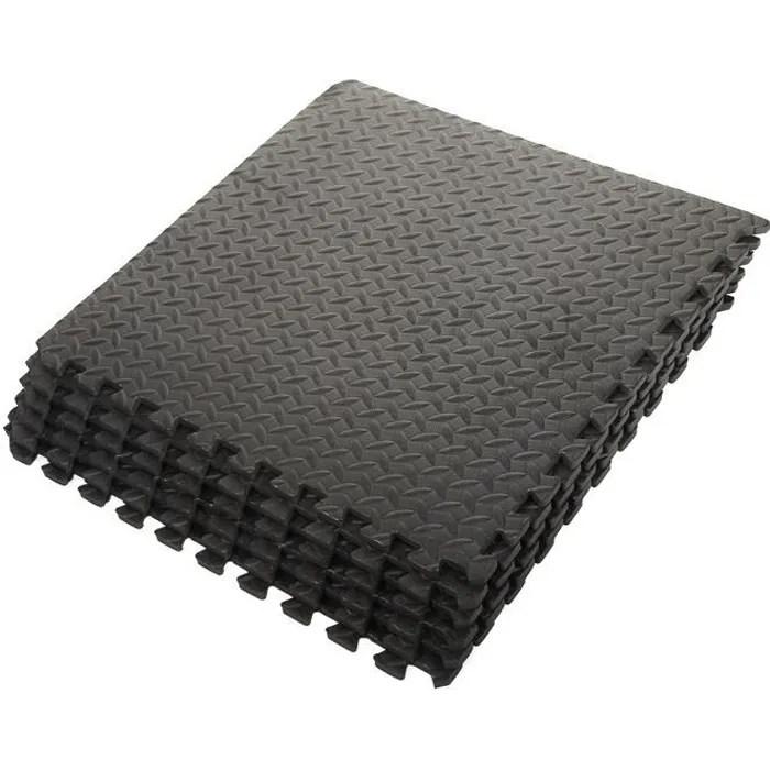 ensemble de 6 dalles carrees eva tapis de sol s