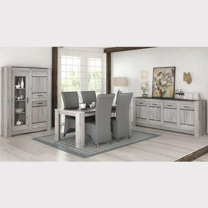 salle a manger complete moderne couleur chene gris angus l 180 x p 100 x h 78 cm gris