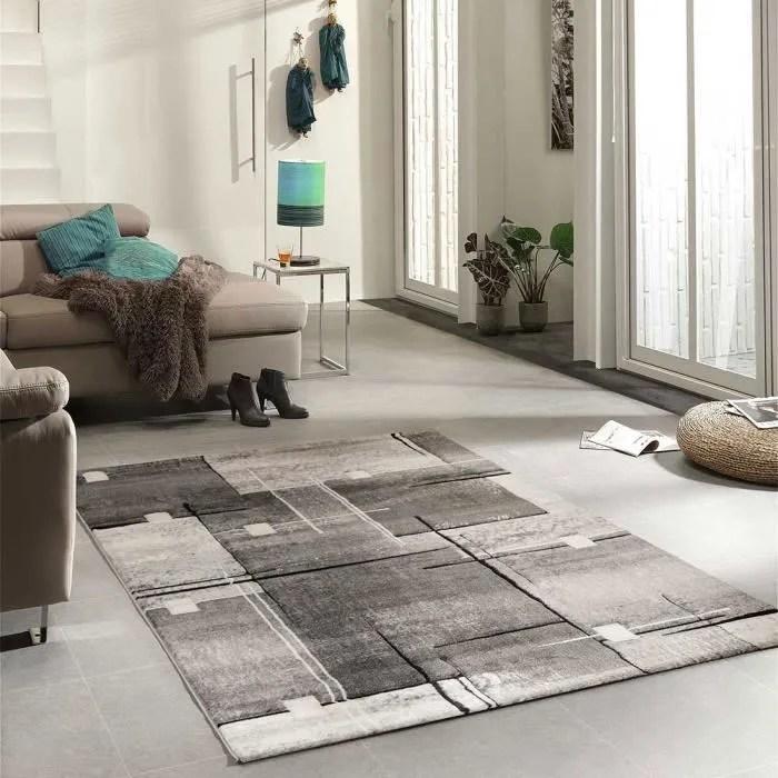 tapis nova gris tapis moderne 80 x 150 cm