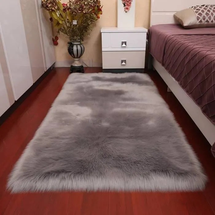 tapis antiderapant pour chambre a coucher moelleux gris 60 150cm tapis au sol