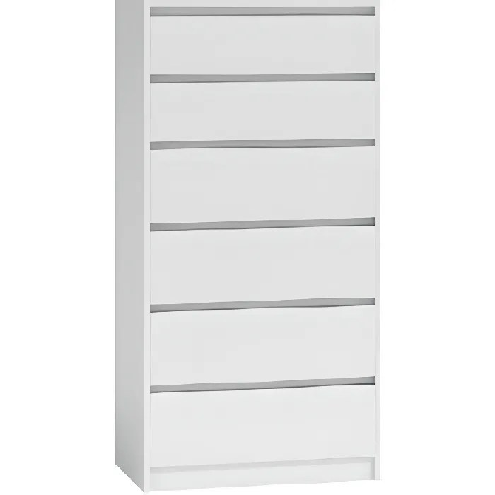 commode moderne avec 6 tiroirs karo k6 43 blanc