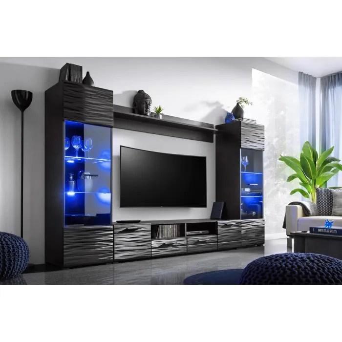 meuble tv mural avec led