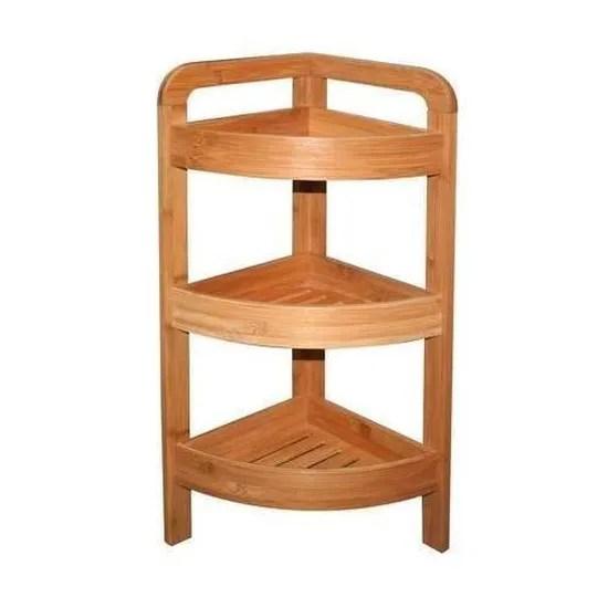 meubles de cuisine etagere d angle bambou 3 niveaux hauteur 61 cm