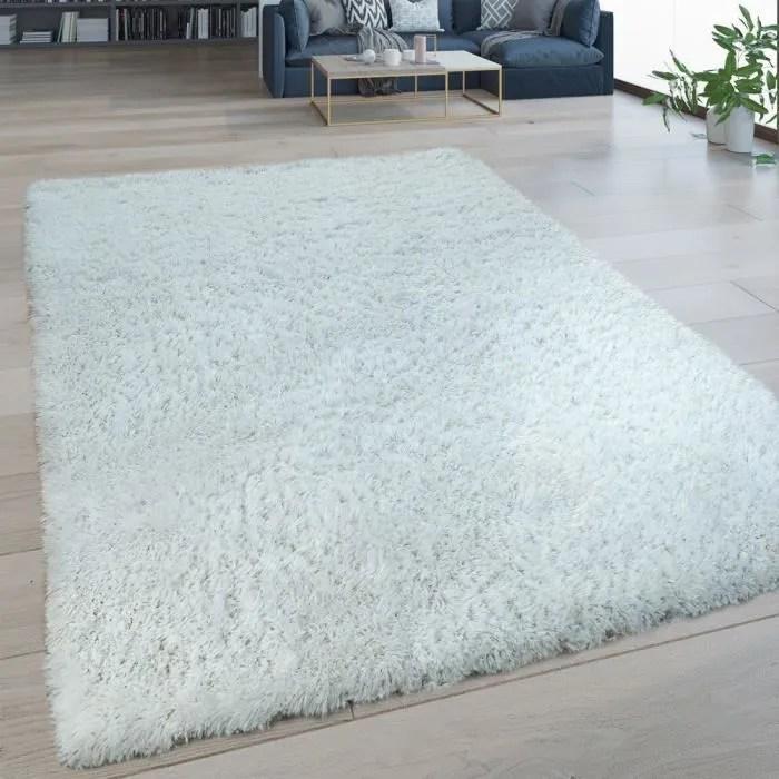 tapis salon blanc uni