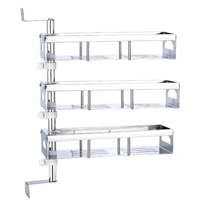 etagere d angle de cuisine en acier inoxydable a 3