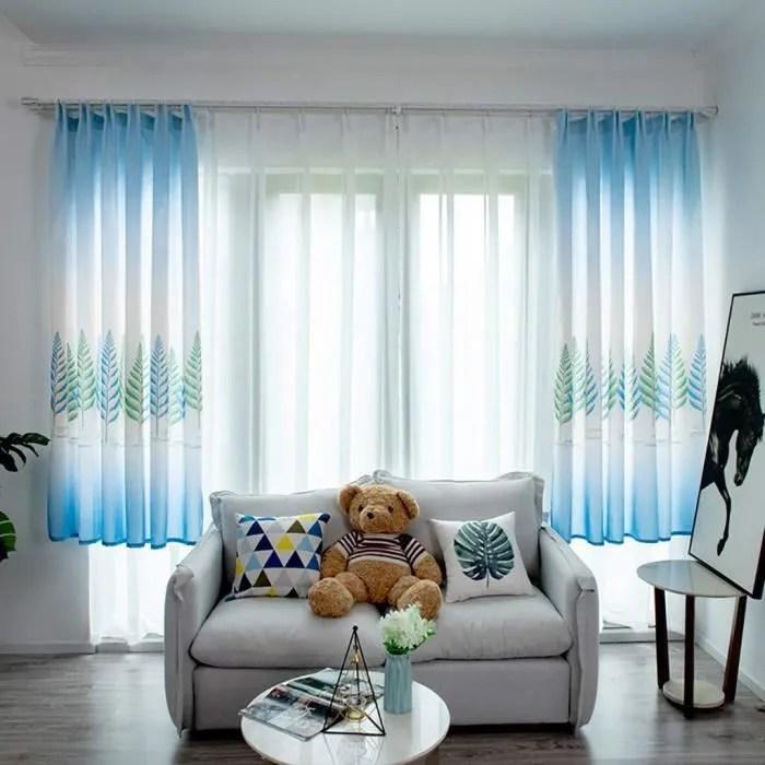style 3 bleu rideau voilage occultants brise bise