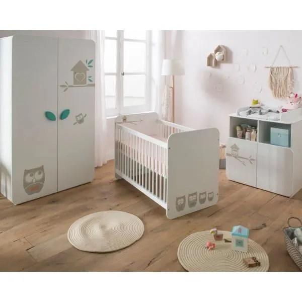 chambre bebe mixte complete chouette