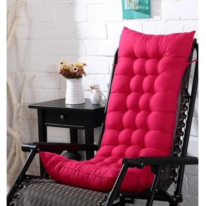 coussin de chaise coussin matelas pour chaise fauteuil transat de jardin terrasse rose rouge