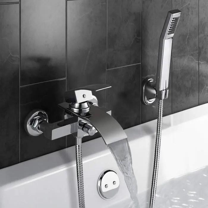 robinet mitigeur baignoire mural