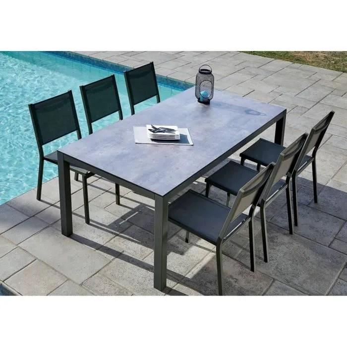 table de jardin 6 chaises empilables