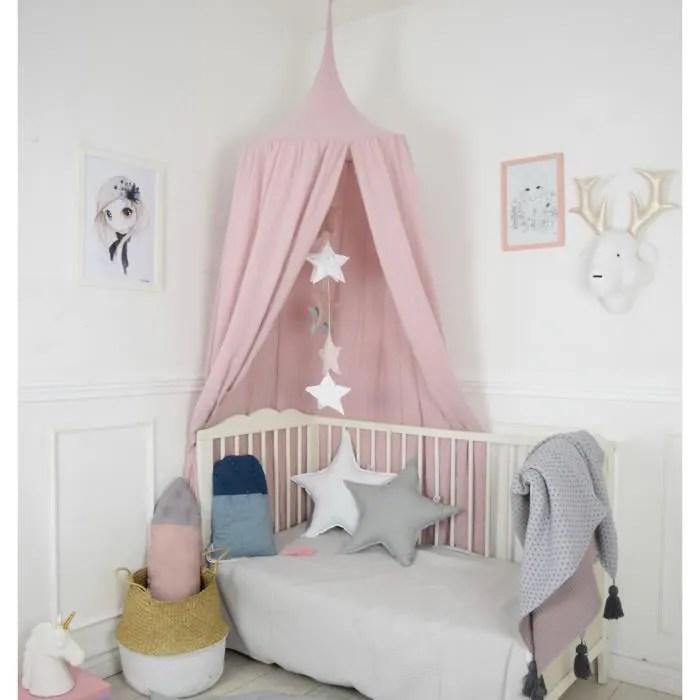 solenzo tente ciel de lit pour chambre d enfant sans accessoires