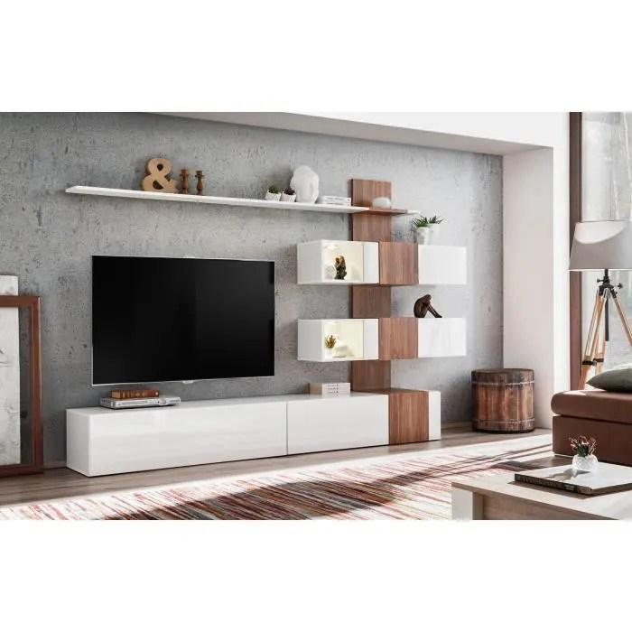 meuble de salon tv complet design led
